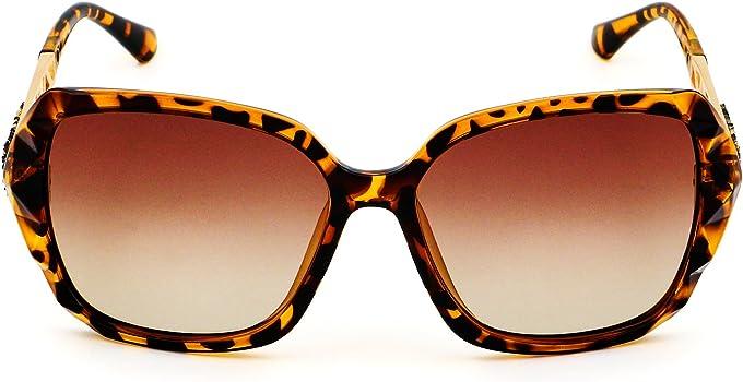 c521204069 LECKIRUT Donna Ombra Classico Oversize Polarizzati Occhiali da Sole 100% UV  Protezione Occhiali