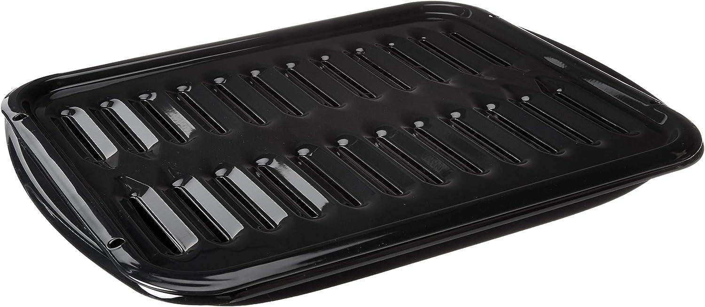 Whirlpool 4396923 Porcelain Broiler Pan and Grid, Black: Home Improvement