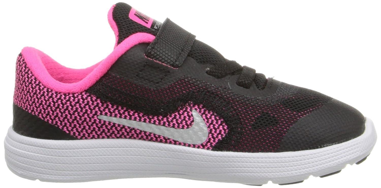 Nike Revolution 3 (TDV), Zapatos de Recién Nacido para Bebés, Amarillo/Plateado/Gris (Brght Mango/Mtllc Slvr-WLF Gry), 26 EU