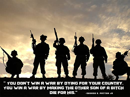 Amazon.com: Army Poster George Patton Quotes Motivational ...