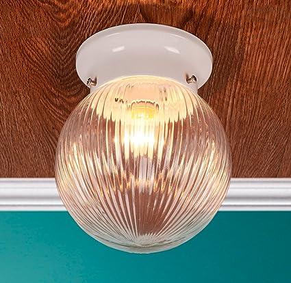 LYTSM lámparas de Techo, Retro Transparente Entrada Esfera ...