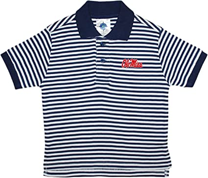 Amazon Com University Of Mississippi Ole Miss Stiped Polo Shirt By