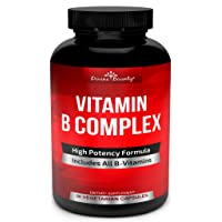Super B Complex Vitamins - All B Vitamins Including B12, B1, B2, B3, B5, B6, B7,...