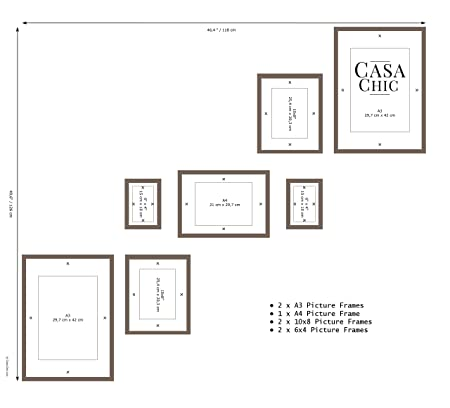 Easy to Use Gallery Wall Template for Staircases - 49.6 inch x 46.4 ...