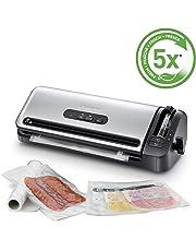 FoodSaver FFS017X Machine sous Vide avec Compartiment de Rangement pour Rouleau et Cutter, Fonction Marinade, Inclus Sacs de Mise sous Vide Assortis et Adaptateur Intégré