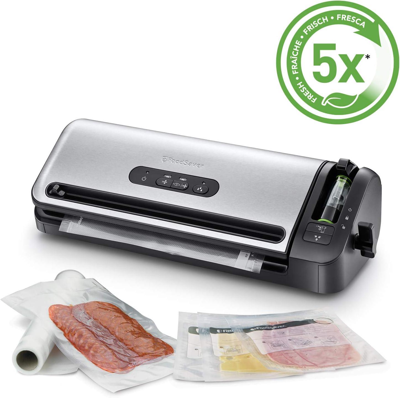 Foodsaver FFS017X Envasadora al vacío, 120 W, Acero Inoxidable ...