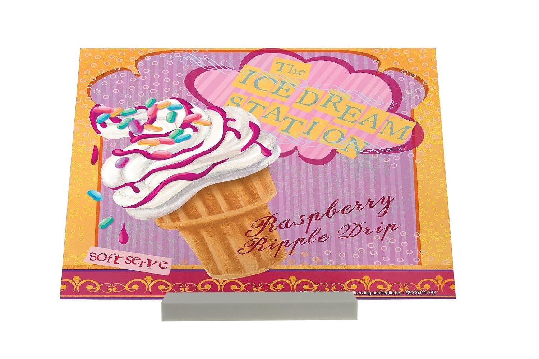 Soporte Fotografias Diversión Nostálgica Soft frambuesa helado Letrero: Amazon.es: Hogar
