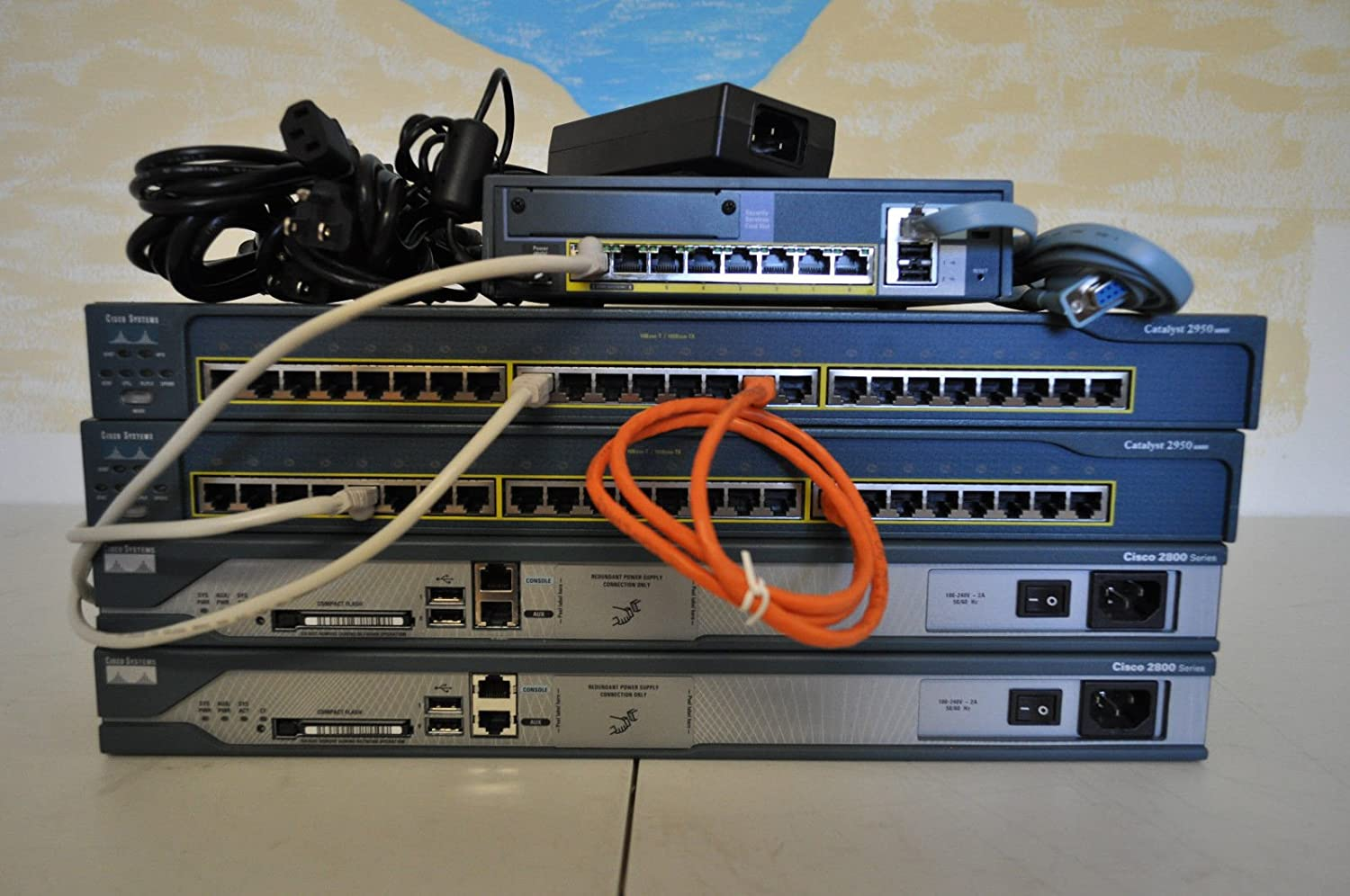 Cisco CCNA & CCNP Security Home lab kit ASA5505 Firewall 2X 2811 15.1 iOS