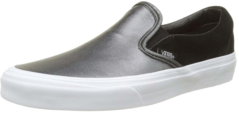 Vans Damen Classic Slip-on Seasonal Leather Sneaker  39 EU|Mehrfarbig (2-tone Metallic/ Black/True White)