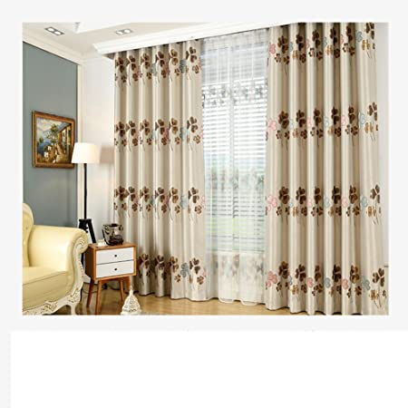 Xiaojingly Blackout Curtains Drape Thermal Insulated Bay Window