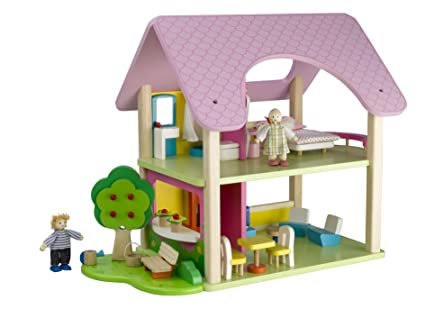 Branching Out The Little Cottage Wooden Dolls House: Amazon.co.uk: Toys U0026  Games