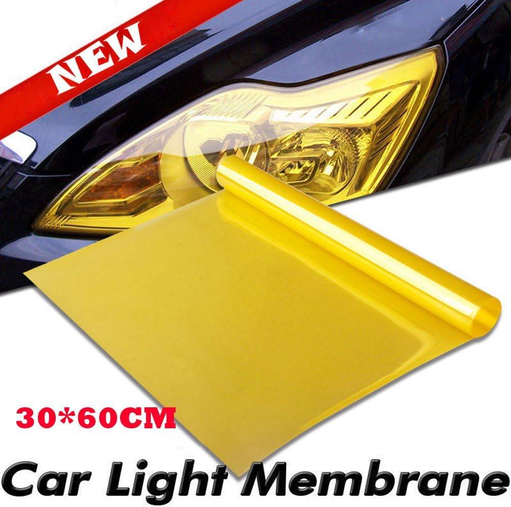 Efaster Transparent Shiny Chameleon Auto Car Headlight Head Lamp Taillights Translucent Film,Lights Turned Change Color Fog Lights Tint Vinyl Wrap Film Self Adhesive Sticker Sheet Decals D
