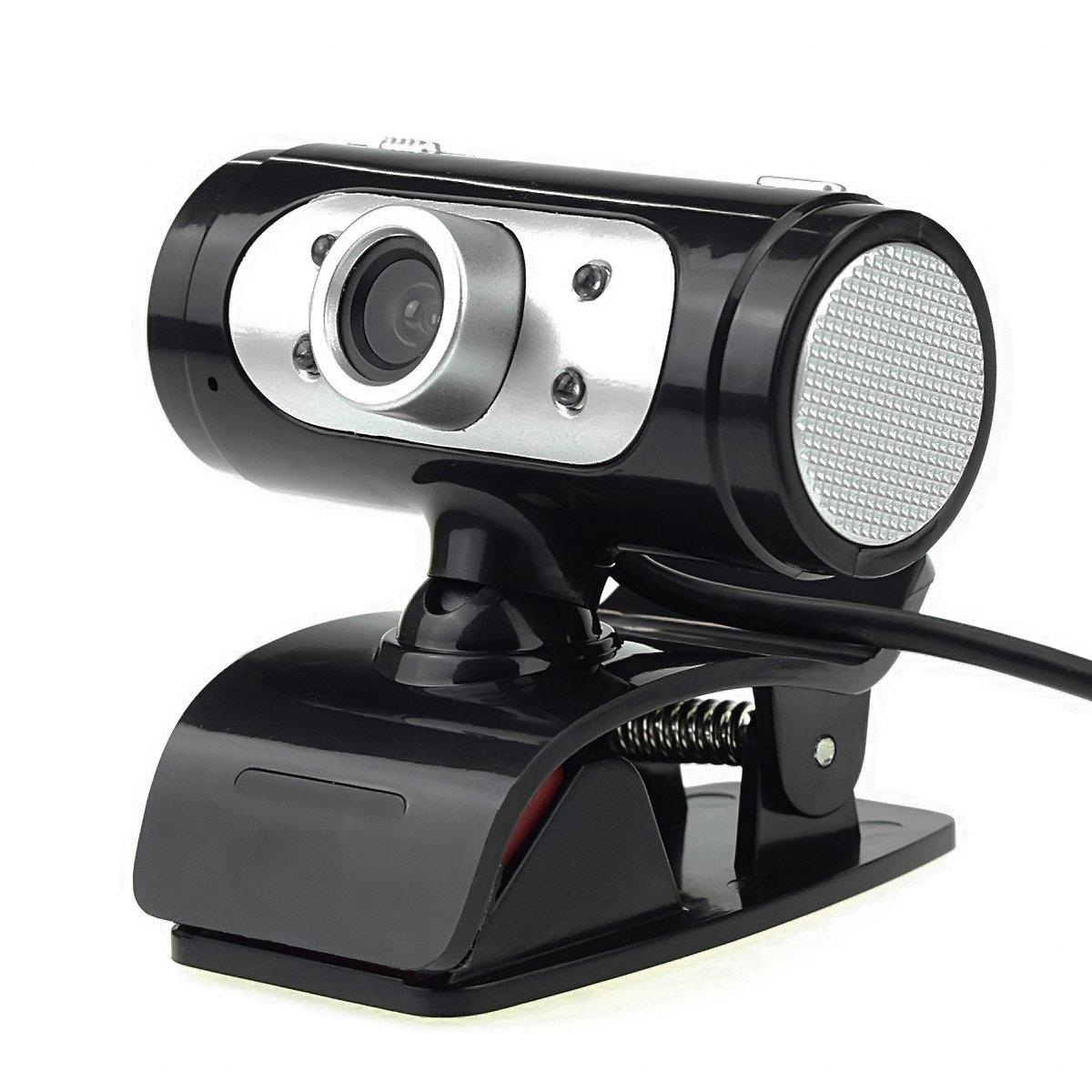 USB HD Webcam 1080P Video Web Camera with Built-in Sound Digital Microphone LED Lights for Desktop Laptop