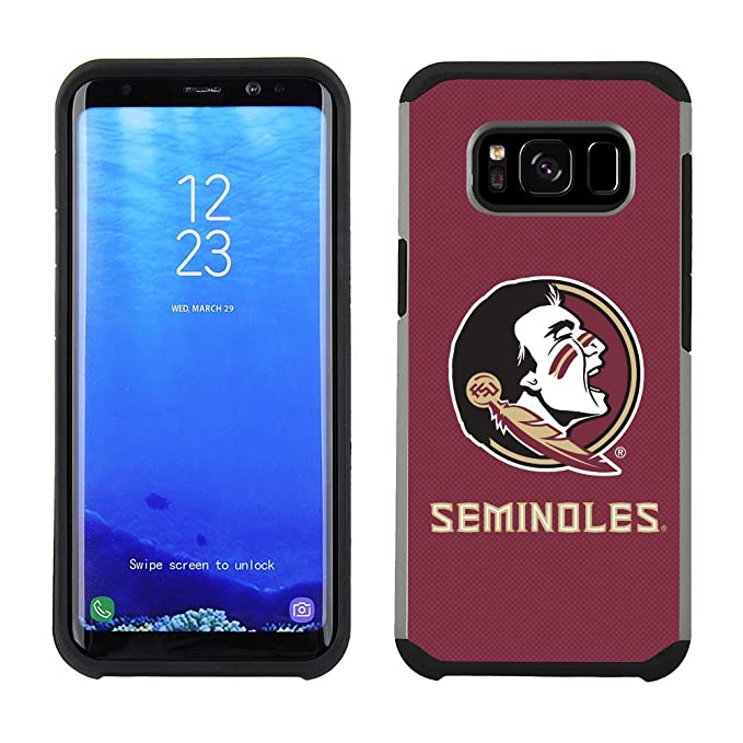 264f0f3701d3e Prime Brands Group Textured Team Color Cell Phone Case for Samsung Galaxy  S8 Plus - NCAA Licensed Florida State University Seminoles