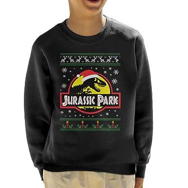 2618ea6bb00 Cloud City 7 Jurassic Park Christmas Knit Kid's Sweatshirt