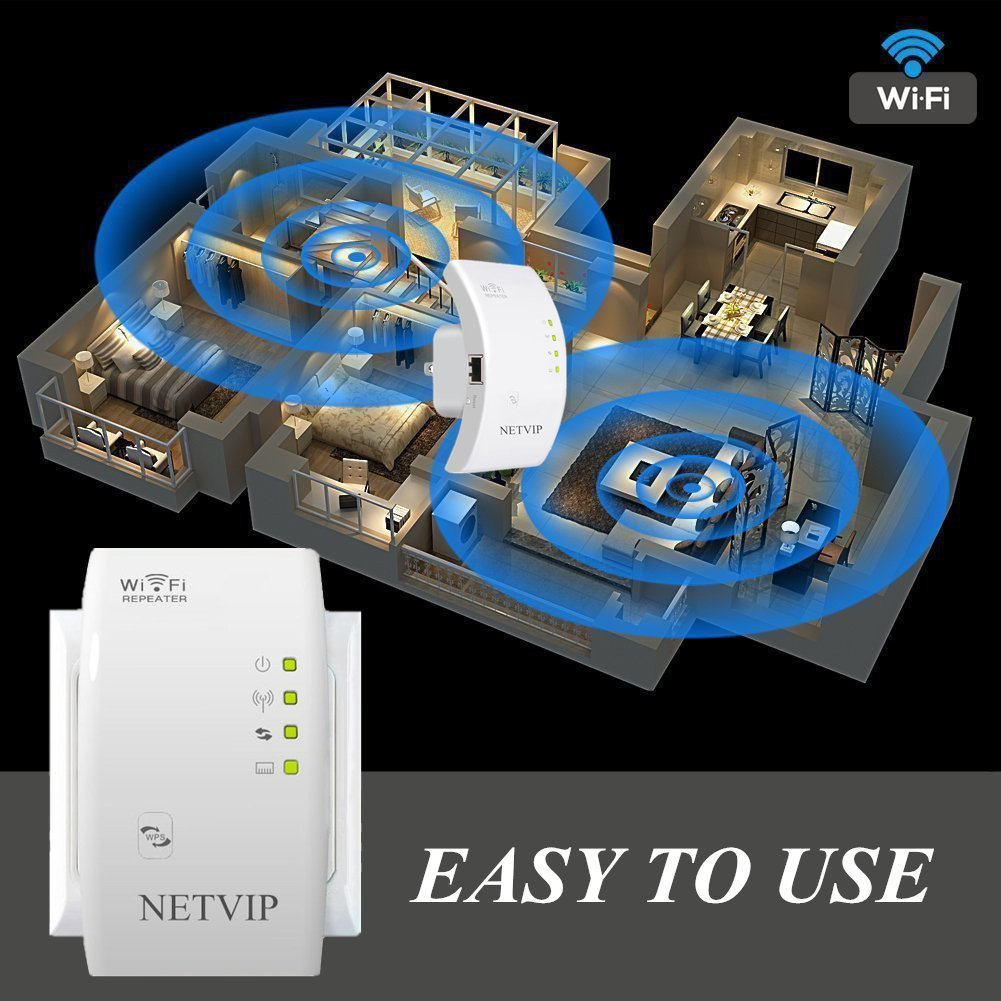 360 Degree Full Coverage Extender Booster Easy Set-Up Comply with 802.11 b//g//n for Any Router WiFi Range Extender Signal Booster 300mbps Wireless Repeater with Internal Antennas for Boosted Internet