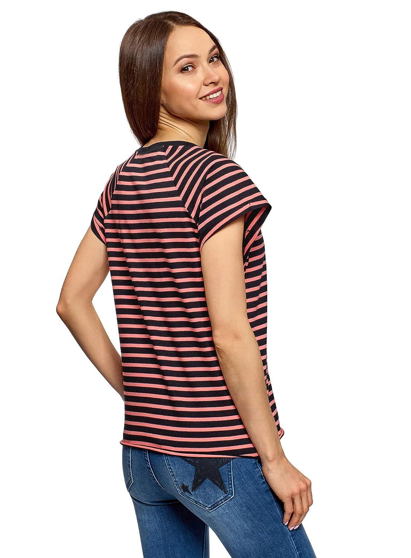 oodji Ultra Damen T-Shirt Basic aus Baumwolle