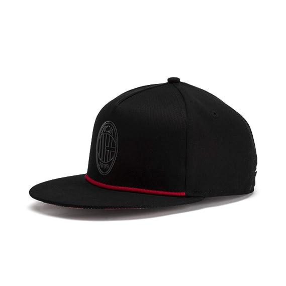 661f4923ab9f7 PUMA Casquette AC Milan Flatbrim Puma Black-Tango Red OSFA  Amazon.fr   Vêtements et accessoires
