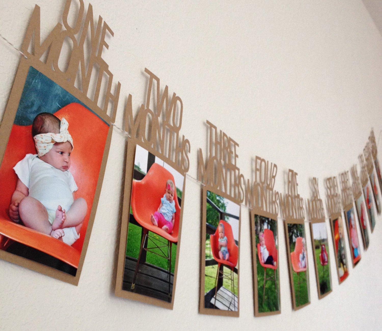 Istloho 1 Jahr Baby Geburtstag Bilderrahmen Postkarten Foto Bilder ...