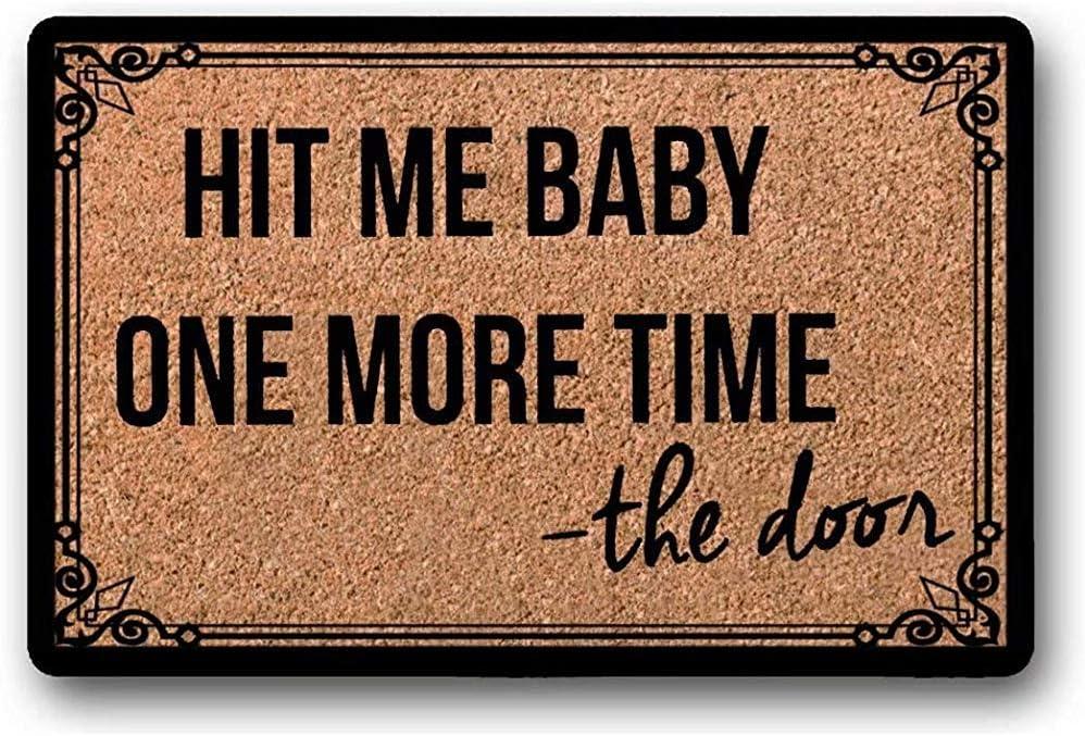 Tapis De Bienvenue//Paillasson Dr/ôle//Tapis De Bienvenue Dr/ôle//Nouveau Cadeau De Propri/étaire-Occupant//Paillasson D B/éb/é Paillassons pour Entr/ée,Britney Spears ma Frapp/é Une Fois De Plus