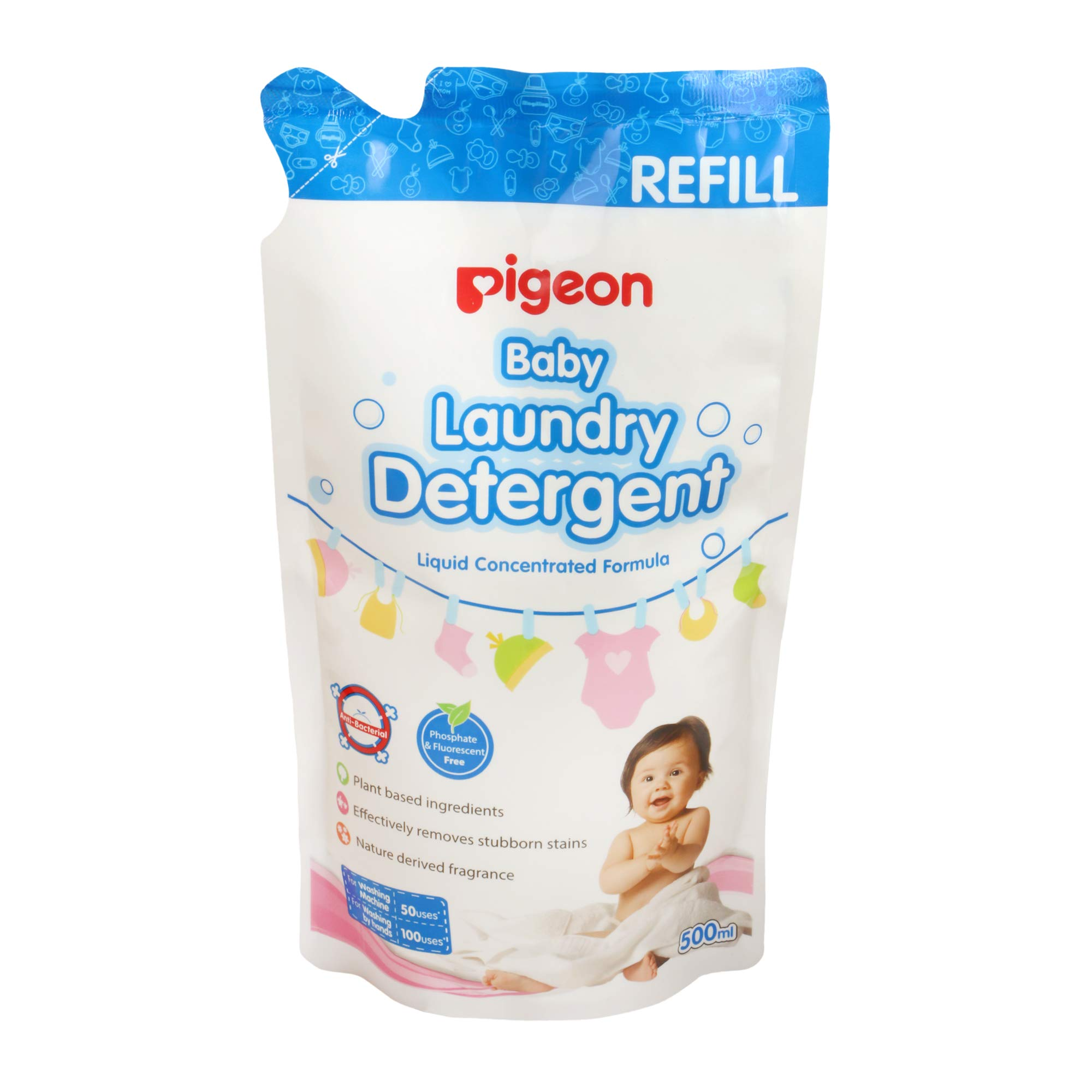 Pigeon Laundry Detergent Liquid Refill, 500ml by Pigeon