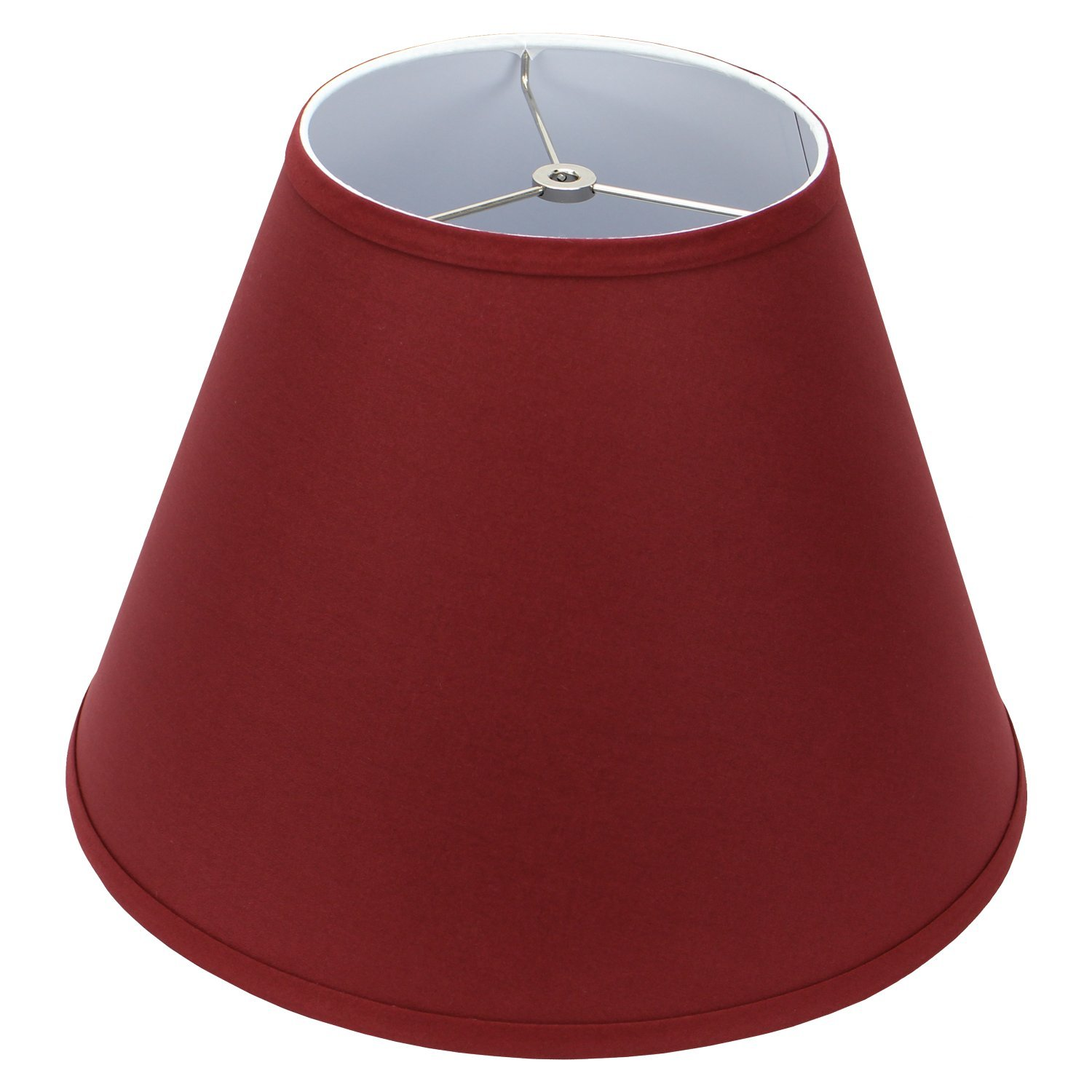 FenchelShades.com Lampshade 8'' Top Diameter x 16'' Bottom Diameter x 12'' Slant Height with Washer (Spider) Attachment for Lamps with a Harp (Brick)