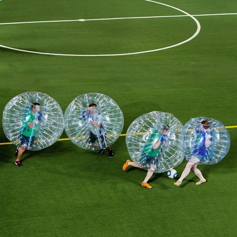 bubbleu24(TM) 4Paquete de pelotas de burbujas para cuerpo Zorb Zorbing pelota hinchable de llamador de humanos burbuja fútbol juego de fútbol