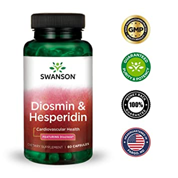 Amazon.com: Swanson Diosmin Hesperidin Cardiovascular Support Blood Health Vascular Wall Integrity and Tone Antioxidant Activity Supplement 500 mg Diosmin ...