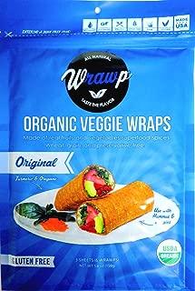 product image for Raw Organic Original Veggie Wraps | Wheat-Free, Gluten Free, Paleo Wraps, Non-GMO, Vegan Friendly Made in the USA (2 Pack)