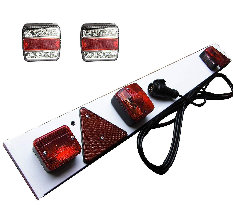 Anhänger Lichtleiste 13-polig Trailer +2x Rücklicht LED 5 Funkt ...