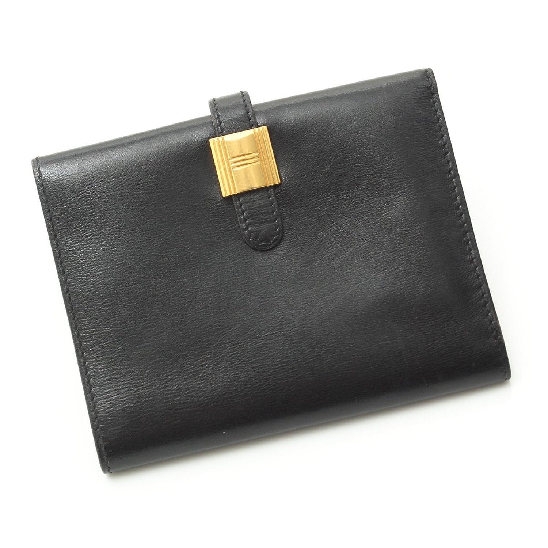 エルメス ソミュールディアンヌ 二つ折財布 ブラック W刻 中古 B0719346DV