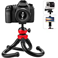 Adofys Camera Flexible Tripod, Cell Phone Tripod 12 Inch Gorilla Tripod Lightweight Bendable Tripod with Heavy Duty Smartphone Stand, Compatible for Action Camera etc. (with Mobile Holder)