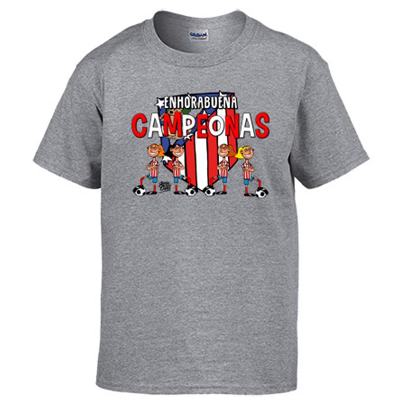 Diver Camisetas Camiseta Atlético de Madrid Féminas campeonas fútbol Femenino: Amazon.es: Ropa y accesorios