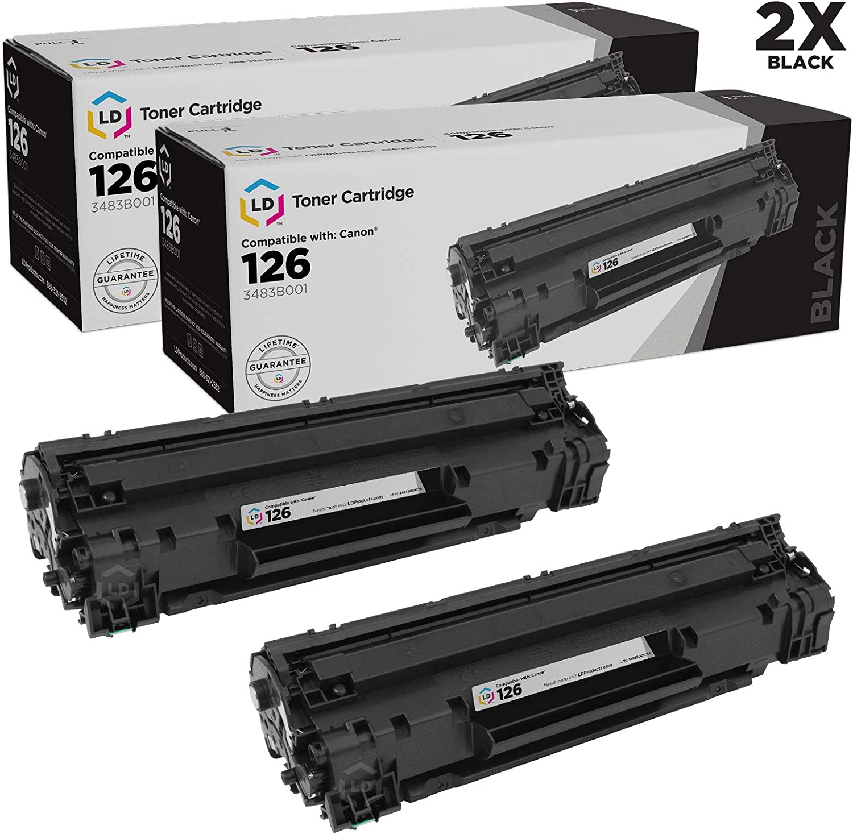 10 Multi-Pack 3483B001 Black Toner For Canon 126 ImageClass LBP6200d LBP6230dw
