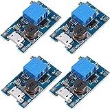 Icstation LM2577 Mico USB DC Voltage Regulator Step Up Boost Converter Power Supply Module 2V-24V to 5V-28V 2A (Pack of 4)