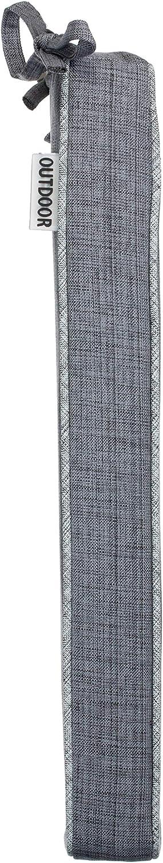 Brandsseller Cuscino da Giardino per Esterni con Imbottitura Effetto Lino a Tinta Unita 40 x 40 x 4 cm Resistente allo Sporco e allAcqua con Nastri di Fissaggio