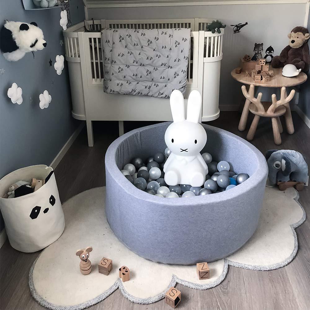 Wonder Space Deluxe Kids Round Ball Pit, Premium Handmade Kiddie Balls Pool, Soft Indoor Outdoor Nursery Baby Playpen, Ideal Gift Play Toy for Children Toddler Infant Boys & Girls (Light Blue) by Wonder Space (Image #7)