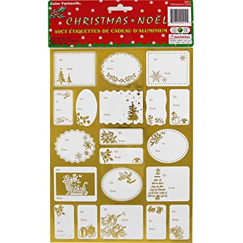 Christmas gift labels stickers