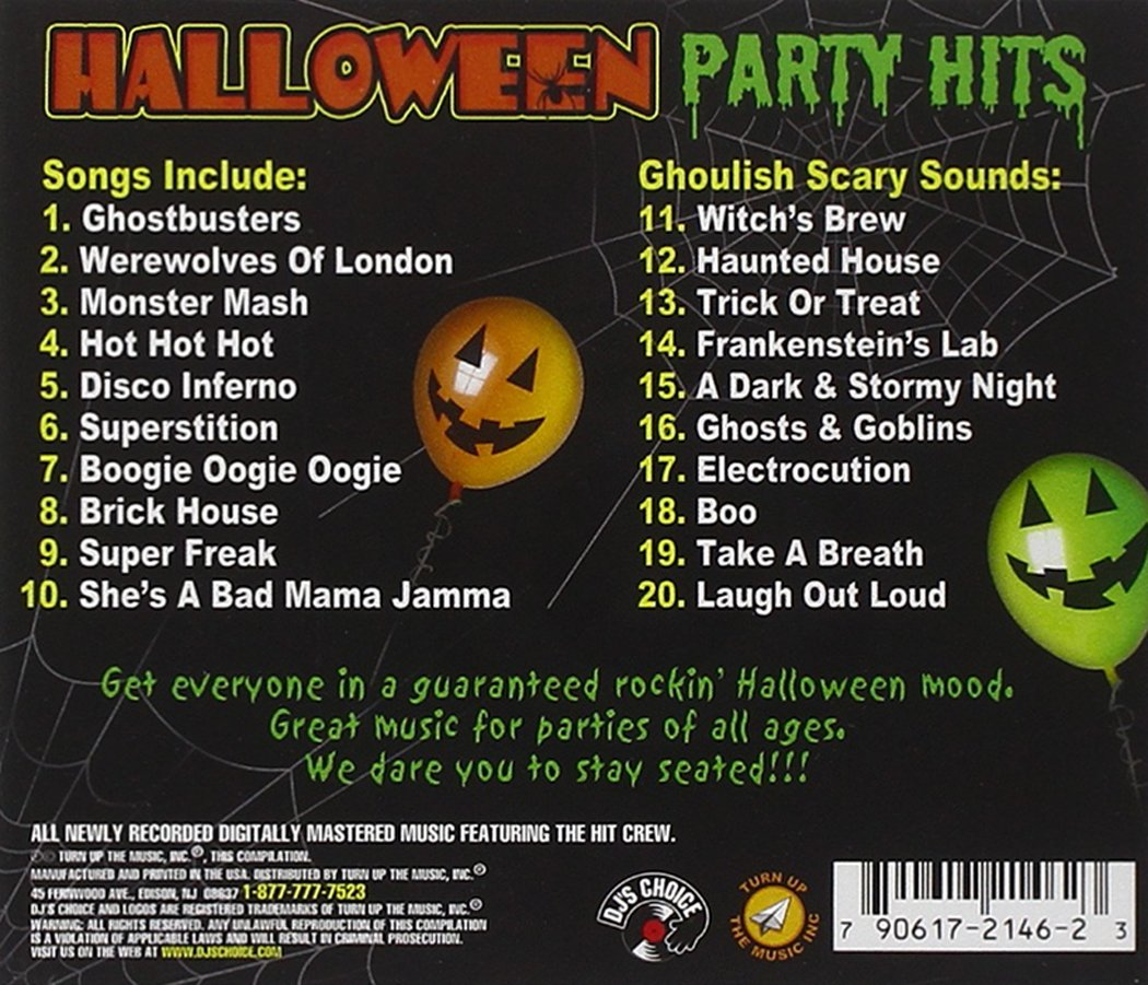 the hit crew dj halloween party hits cd amazoncom music - Halloween Music For Parties