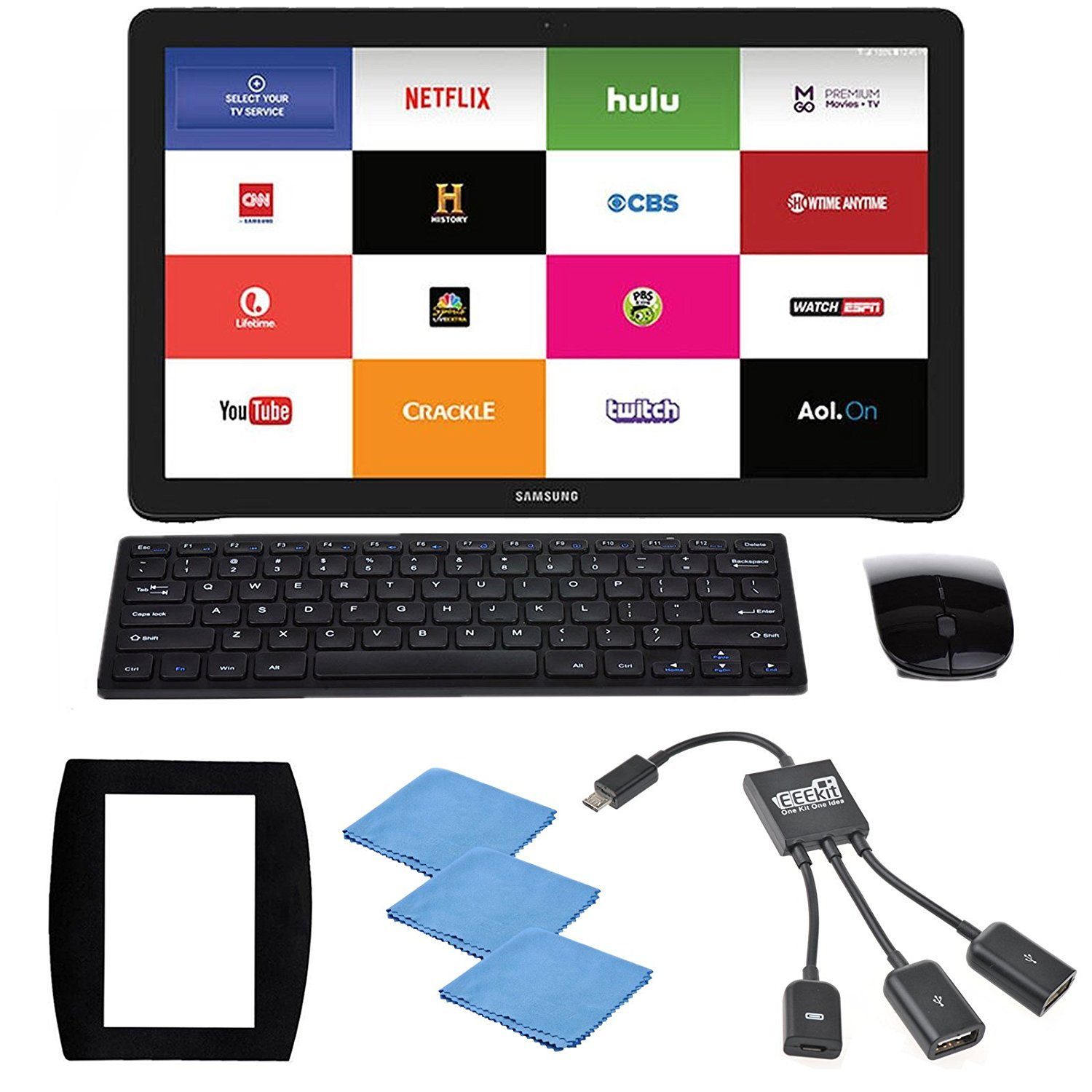 EEEKit 5 in 1 Office Solution Kit for Samsung Galaxy View 2 18 4 inch  Tablet, 2 4G Wireless Keyboard Mouse Combo, Micro USB Host OTG Hub Adapter,