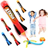 Duckura Jump Rocket Launchers for Kids, Outdoor Play with 5 Foam Rockets, Outside Activities Games Camping Toys…