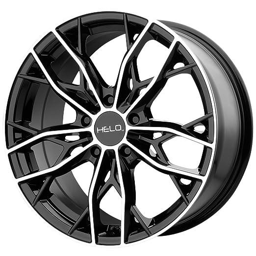 Amazon Com Helo He907 Gloss Black Machined Wheel Chromium