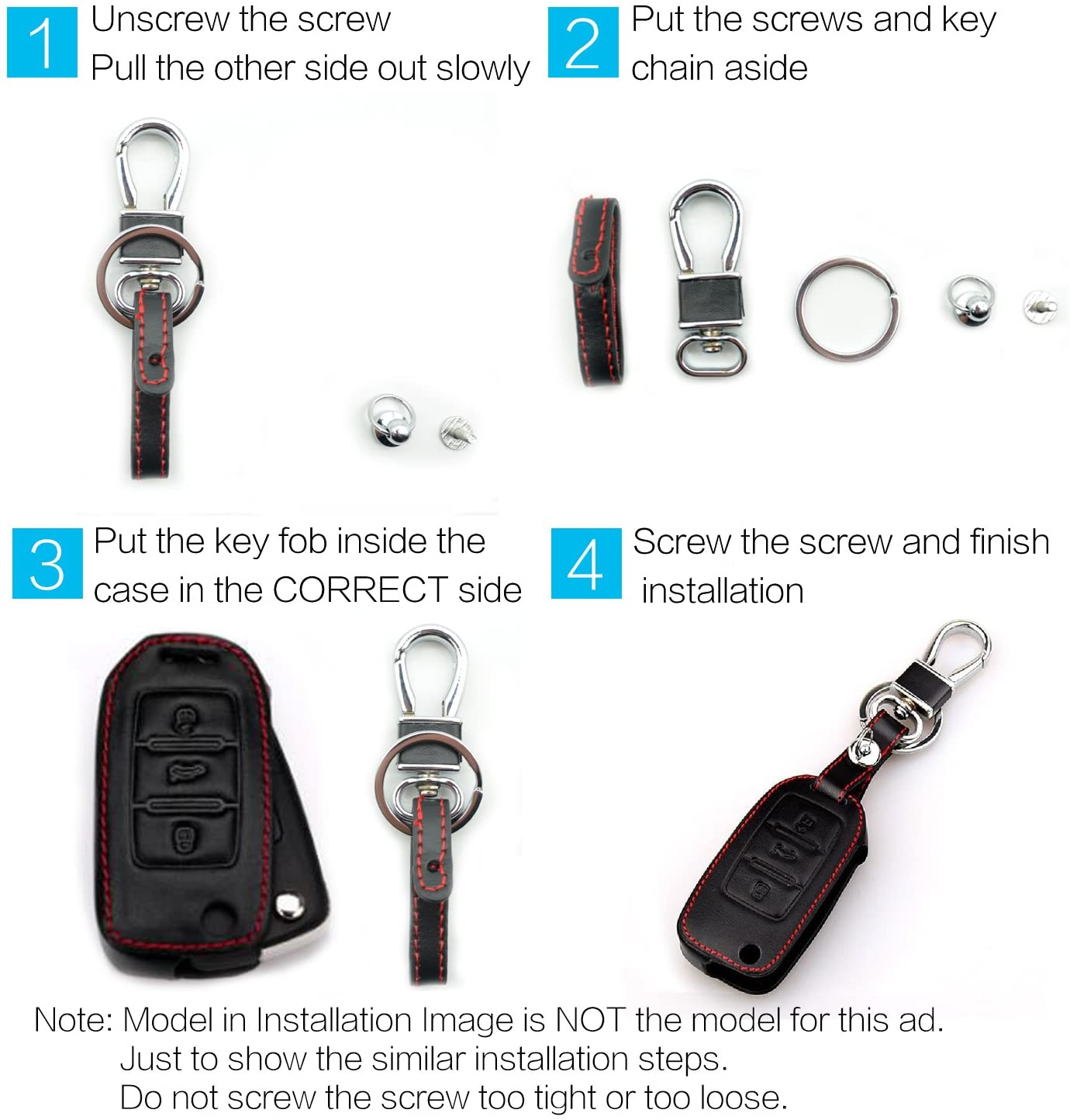 Bonus Silicone Rubber Case /& Key Ring MECHCOS Compatible with fit for 2015 2016 2017 2018 Kia Sedona 6 Buttons Leather Case Smart Key Fob Cover Keyless Remote Holder Protecter