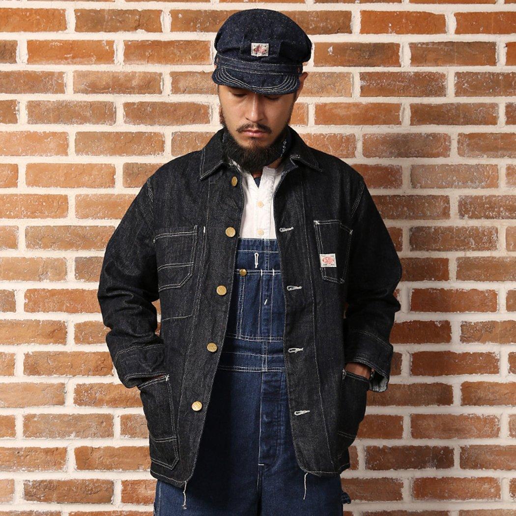Men's Vintage Workwear – 1920s, 1930s, 1940s, 1950s Bronson 40S Mens Unbleached Denim Red Ears Four Pocket Slevage Railroad Coveralls Jacket $119.99 AT vintagedancer.com