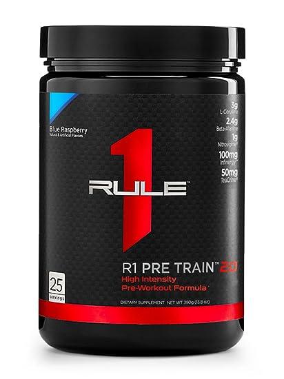 Amazon.com: R1 Pre tren 2.0, regla 1 Proteínas, Frambuesa ...