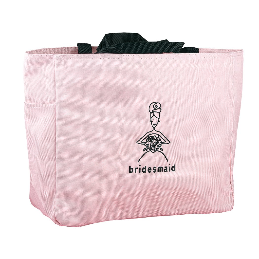 Hortense B. Hewitt Wedding Accessories Pink Bridal Party Tote Bag, Bridesmaid, 12 by 14-Inch