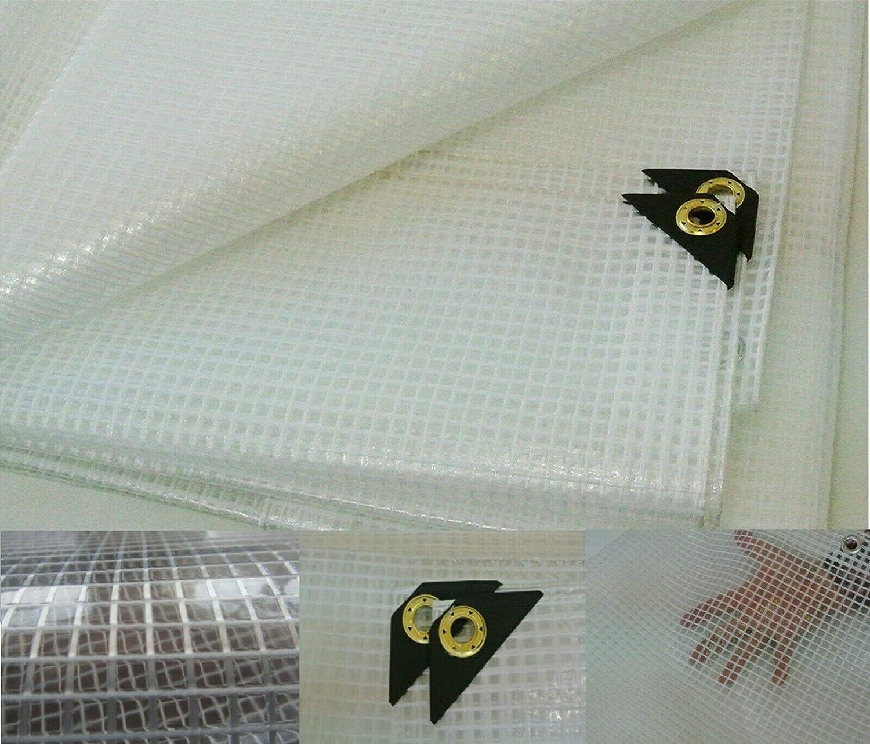 5 x 7 Clear Heavy Duty 14 Mil Poly Tarp Fiber Reinforced Nursery//Greenhouse//Garden