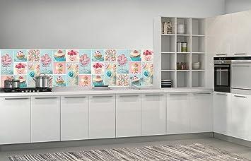 KÜCHENFOTOTAPETE VLIESFOTOTAPETE FÜR KÜCHE Fototapete Tapete Für Die Küche  Vlies | Bunte Cupcakes Und Kekse |
