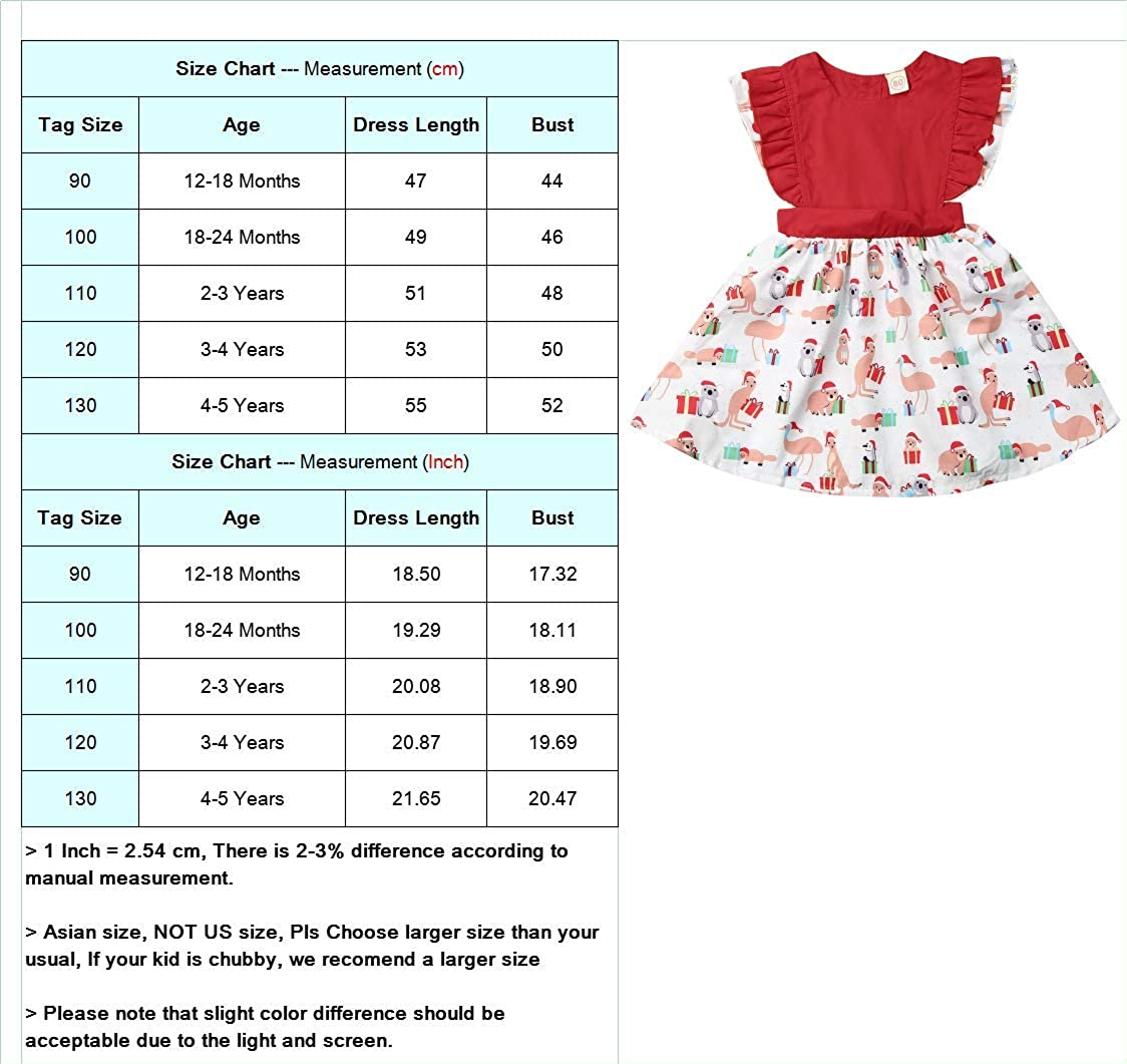 Sunloudy Christmas Little Girl Sister Matching Clothes Baby Girl Ruffle Fly Sleeve Romper Dress