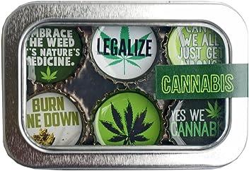 Kate Grenier Designs Cannabis Bottle Cap Magnets